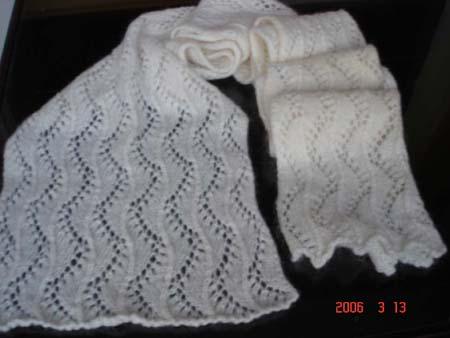 学织的围巾