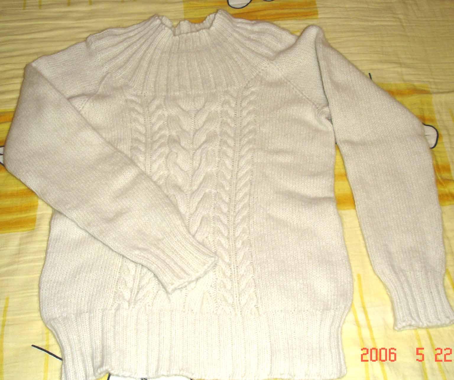 用纺织娘的兔羊绒6股织的