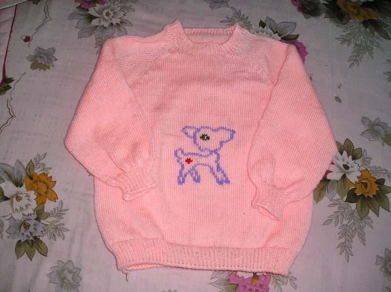 第一次编织插肩的毛衣