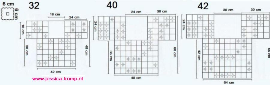 短袖(拼花的尺吋為6cmx6cm;32,40,42是尺碼, 32應是小號吧,旁邊有尺吋,各位可自已比比看哪個比較合身)