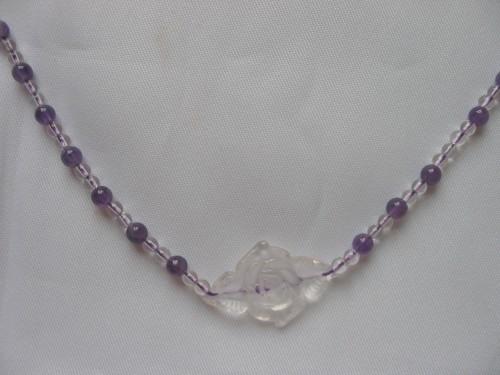 白水晶+紫水晶+白水晶花52.00
