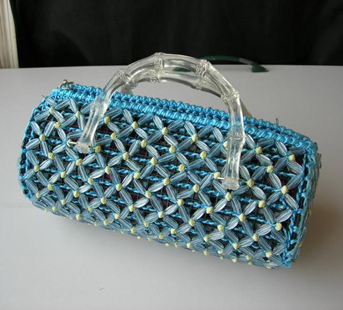 手工攒珠包包