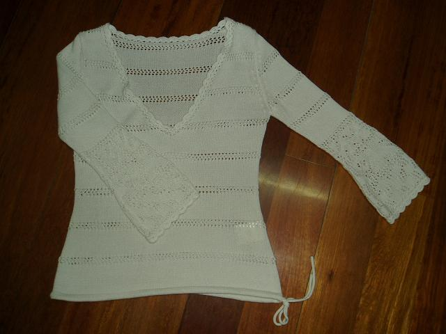 本白色四股棉线编织