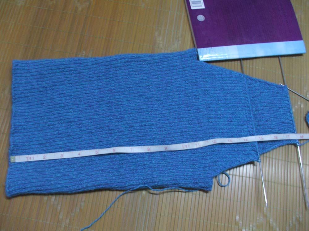 毛衣起320针,分针处两边各收26针,现在全长1尺7寸半