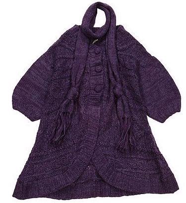 很喜欢  配围巾A字型紫色长毛衣.jpg