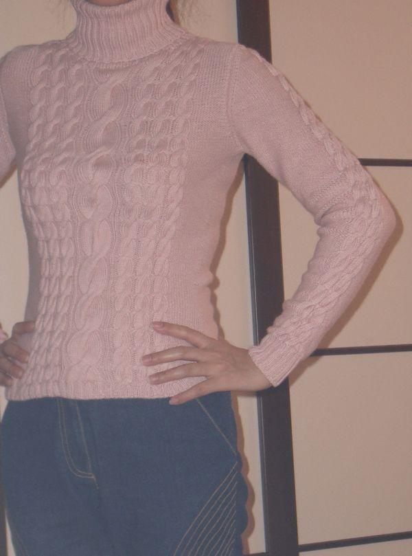 """""""蔷薇花园""""的粉色绢丝羊绒(20%绒),48支,8股12号针织,大约7两。"""