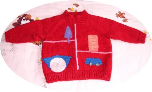 幼儿园时候的红毛衣(正面)