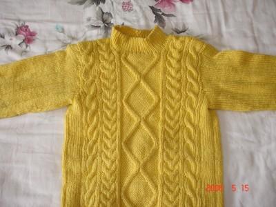 有谁看得出来这件毛衣是细线织的吗?