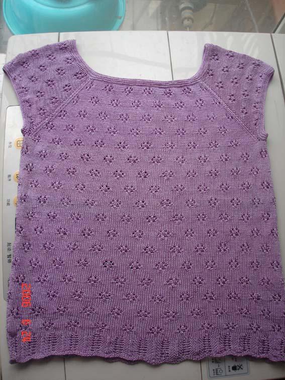 第二件作品紫色冰丝衫