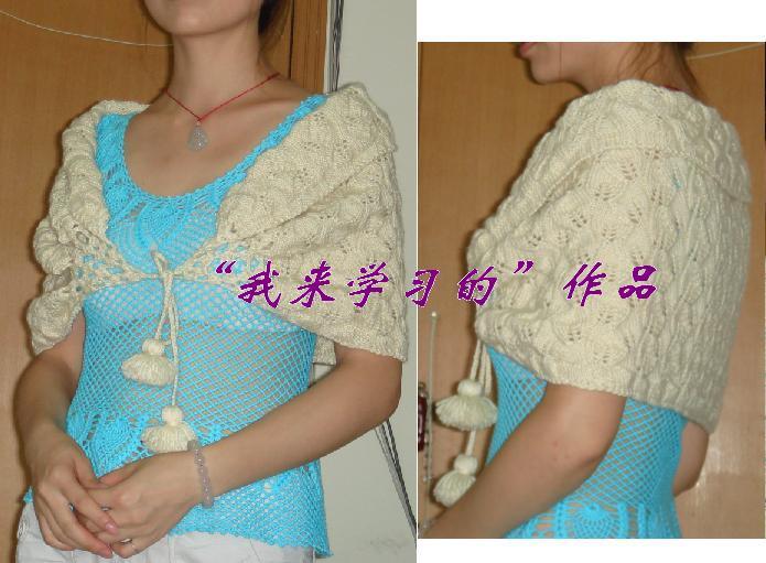 羊毛的,虽然一次没穿过,但因为放的时间较长了,所以颜色不是原来那么靓丽了