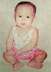 大女兒的十字繡照-2001的作品