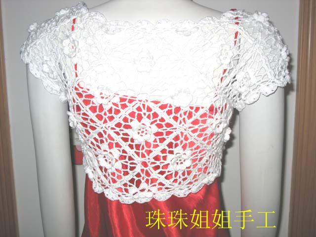 白玫瑰小衫后面效果图