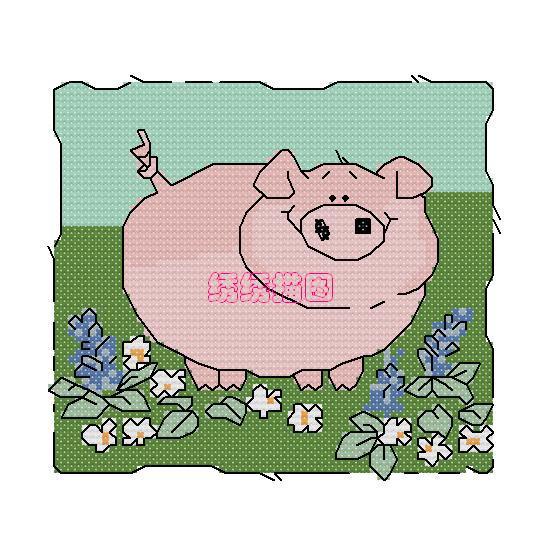 69 十字绣作品秀 69 十字绣图案大全 69 卡通小猪