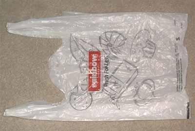 取一只方便袋