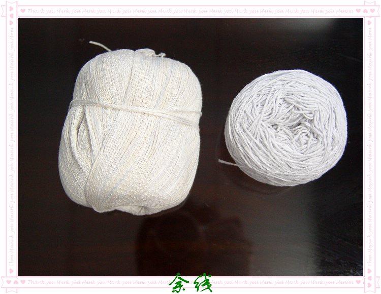 三团链条线和浅浅灰棉线半斤,打完这衣服后的余线