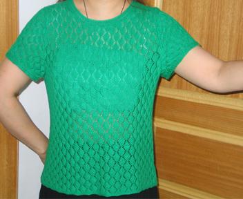 此绿棉线衣衣,用了250克线。化时间最多的。