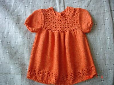 最新作品,是生了女儿后织的,蔷薇的夏季线,橙色和桔红混色