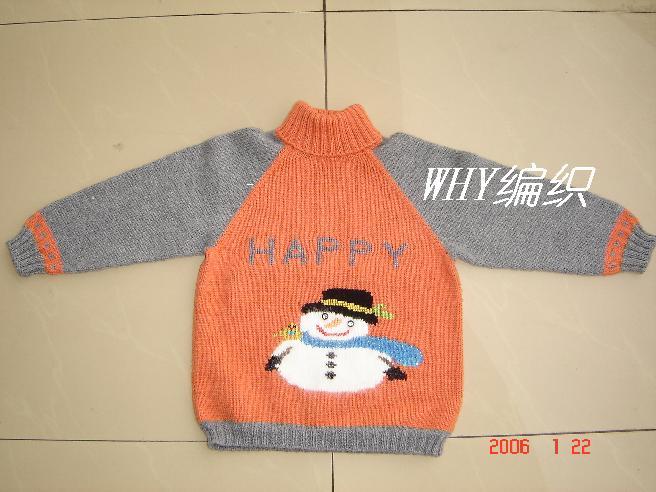 儿子的雪人毛衣