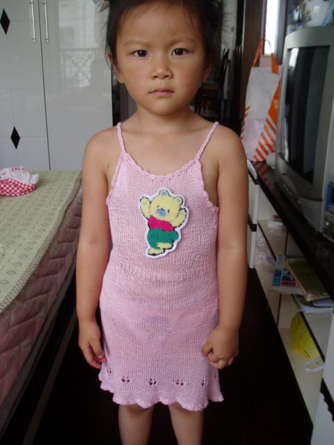 我女儿的QQ(是用芳芳那里的丝光棉线织的啊)