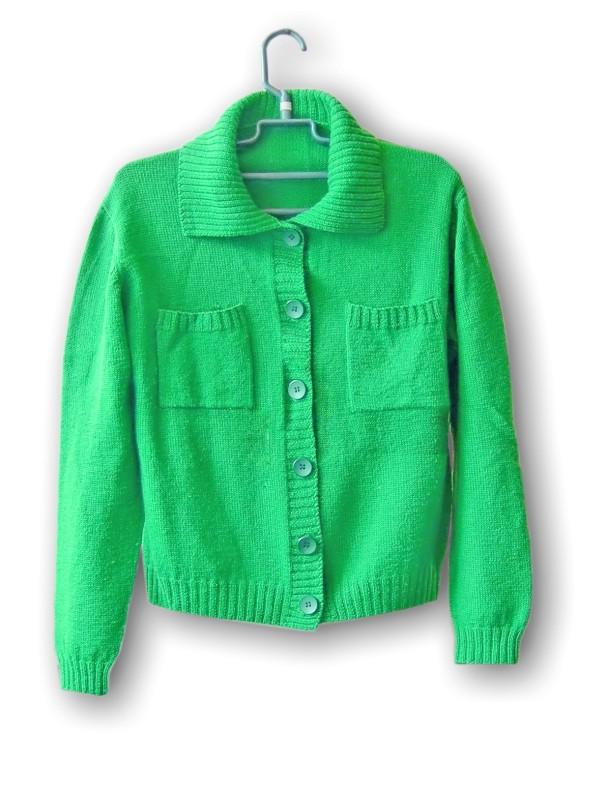 一件绿色的全羊毛上衣