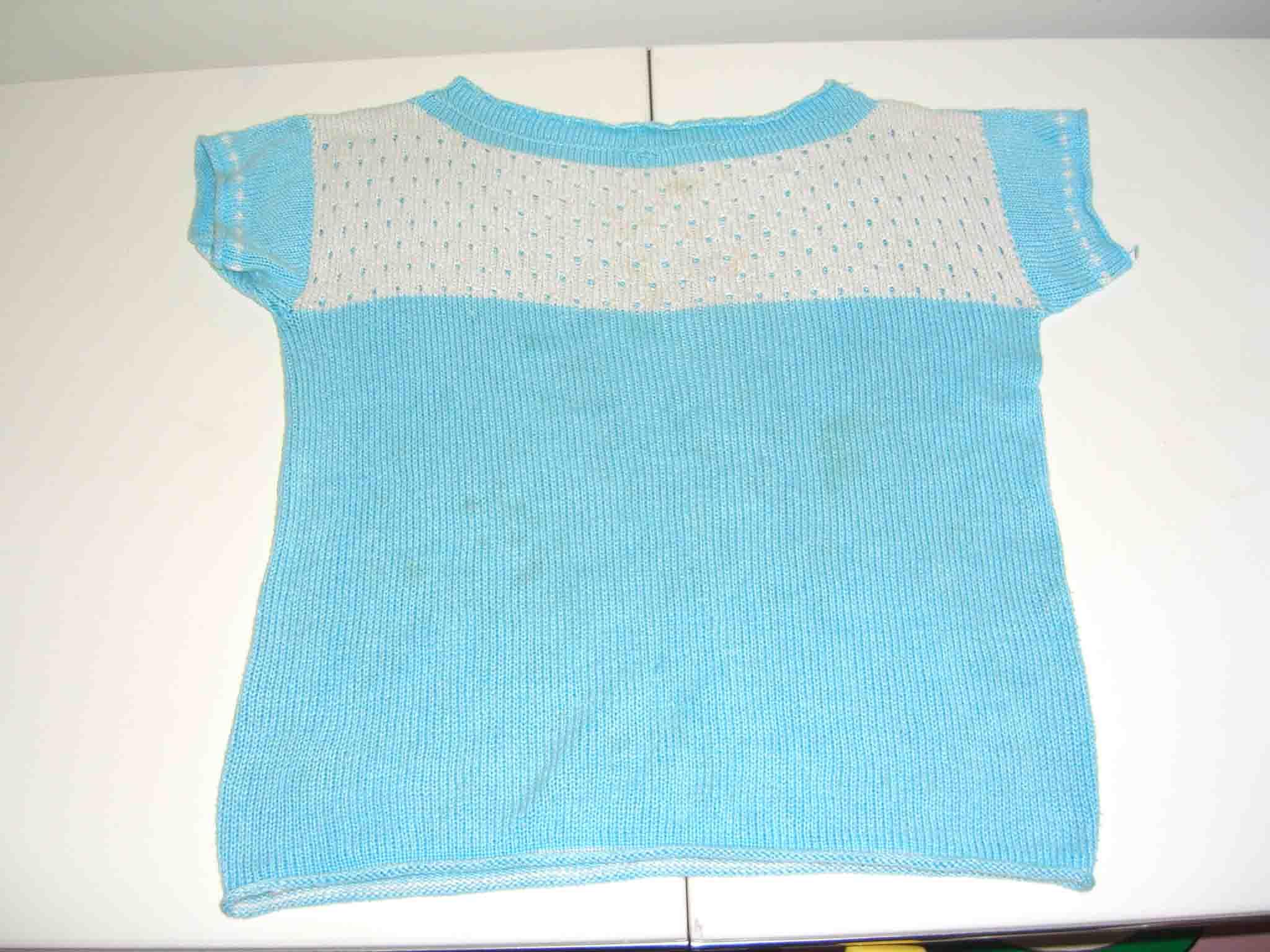 兰色棉线短袖