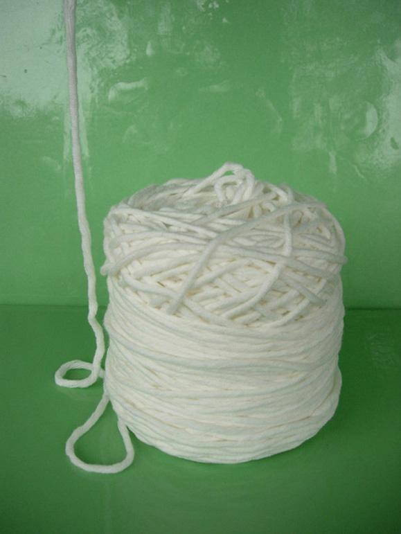 台湾奶白色棒针线