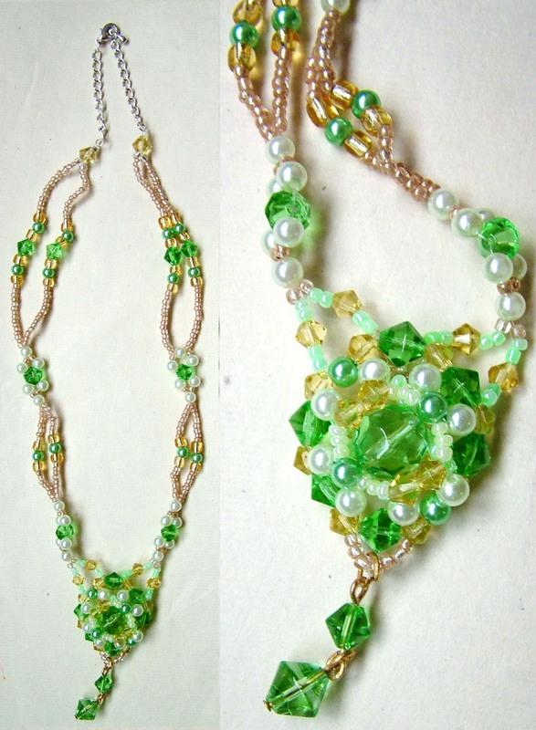 绿色串珠链