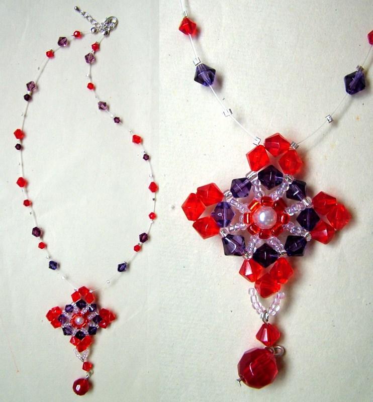 大红串珠链3