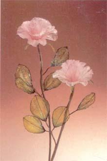 19. 完成的水晶玫瑰花。 如果想加强化液或水晶珠、七彩