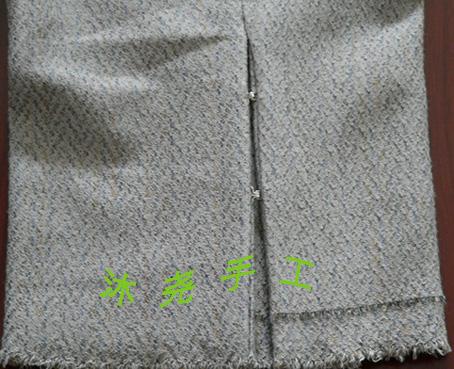 灰中裤裤腿细节