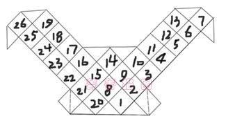 结构1(展开,三角形的另外钩,也不用藏线,在钩花边时第一圈钩在短针里就行了,很方便)