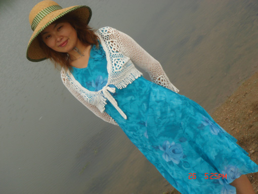 白色长袖YY配连衣裙穿