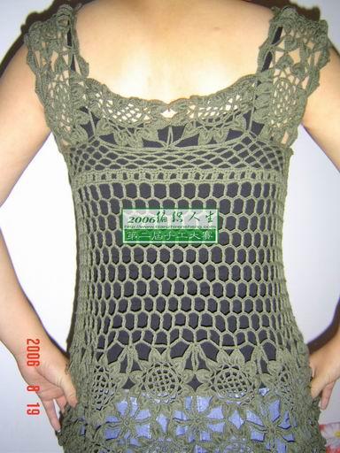 背面.YY共用了425克.军绿色.纯棉线
