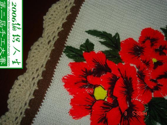两朵花和画边