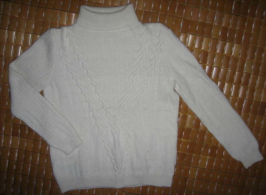 迷云的白色兔羊毛,用的是真情13号针织的