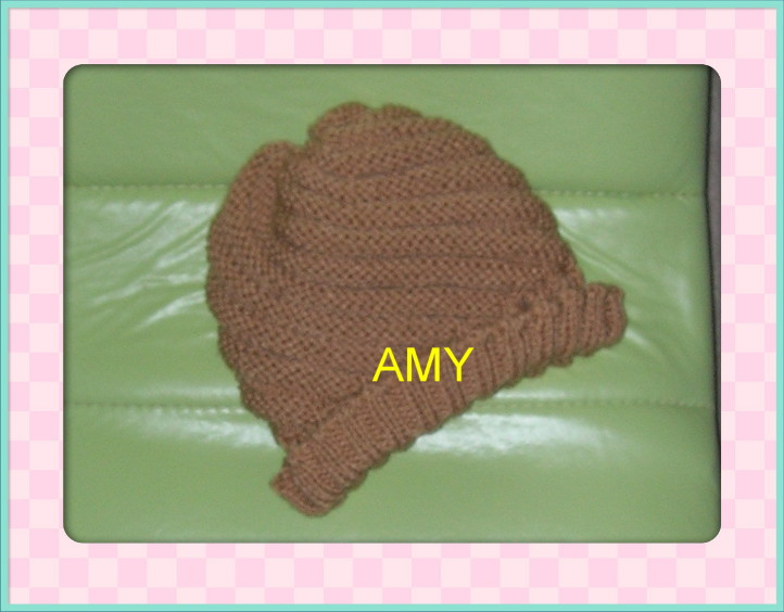 给我亲爱的老妈织的帽子