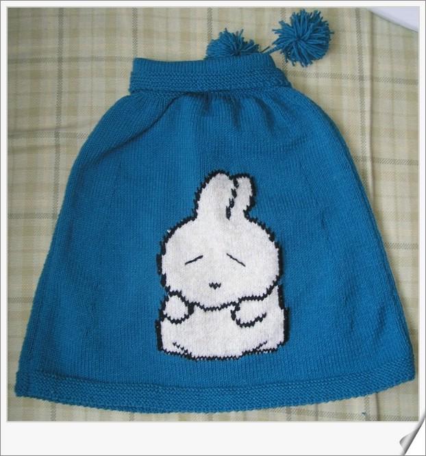 小兔披肩反面