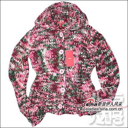 彩色马海毛编织,复古设计,五彩的花纹加上大棒针纹理,野性而粗犷