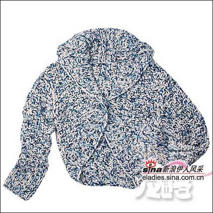 彩线编织,大翻领,时尚的斗篷设计更好搭配