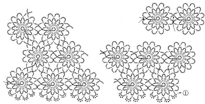 连钩的花是按这个图解来的