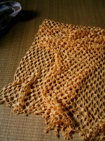 去年钩的围巾