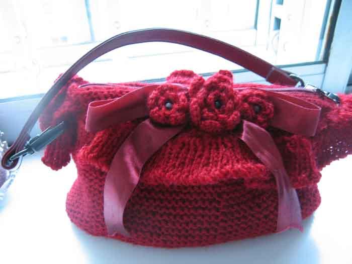 棒针编织小手包