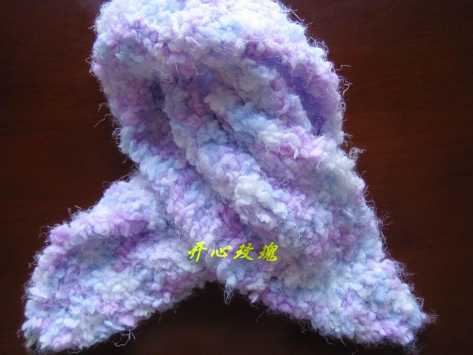 小侄女围巾,瑞小小的超柔线线,这线线非常柔软,舒服极了