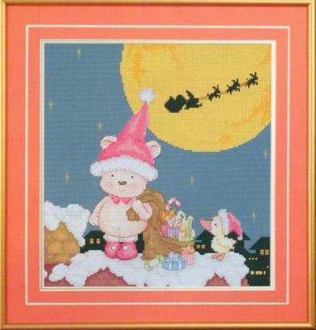 0可爱圣诞男孩天使送礼物成品图.JPG