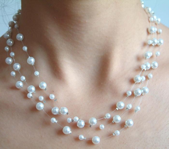 三层白珍珠