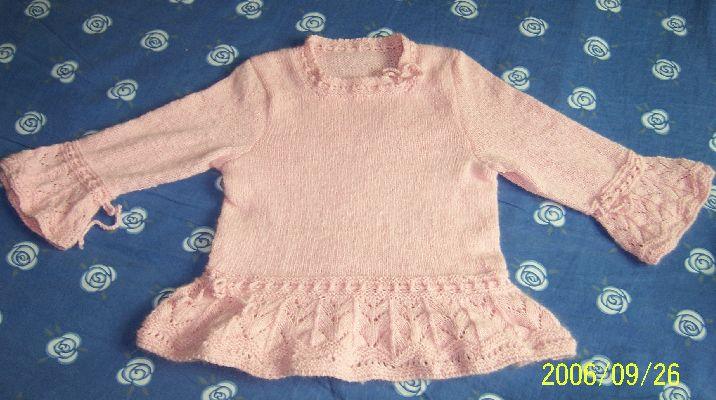 meg0707线吧链式兔毛线织的,很柔软,个人觉得此线的性价比挺高的,可贴身穿,用线三两,超省,12号针织的.