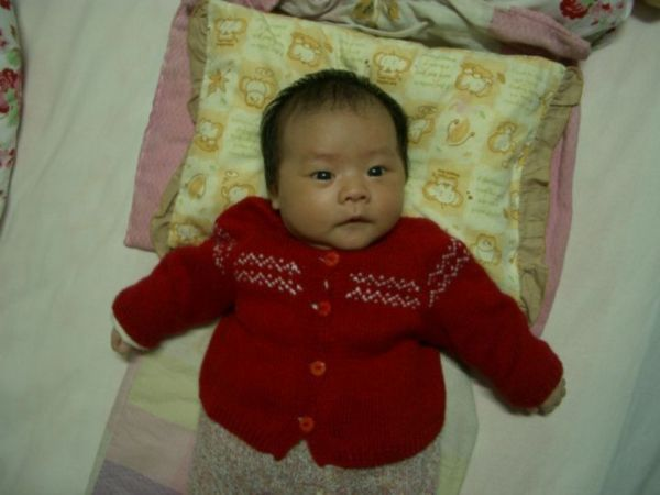 小曼的丝光棉线开衫2