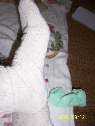 我自己也织了一个,不过用线是棉纱,没弹性,不好看