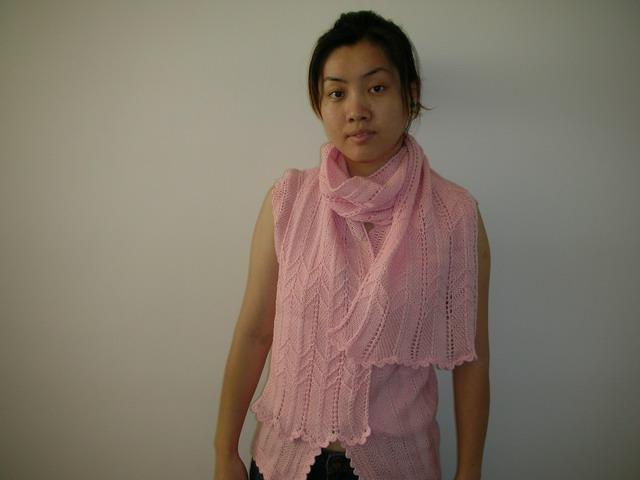 背心及围巾