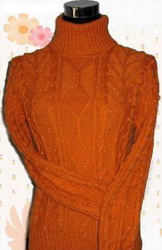 三七毛高领毛衣